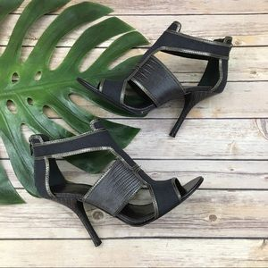 Tory Burch dark blue high heel sandals